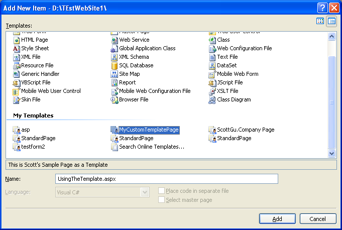 Visual Studio İçin Template Hazırlama (C#) (2/6)