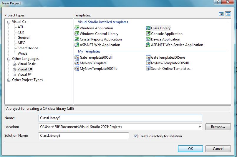 Visual Studio İçin Template Hazırlama (C#) (3/6)
