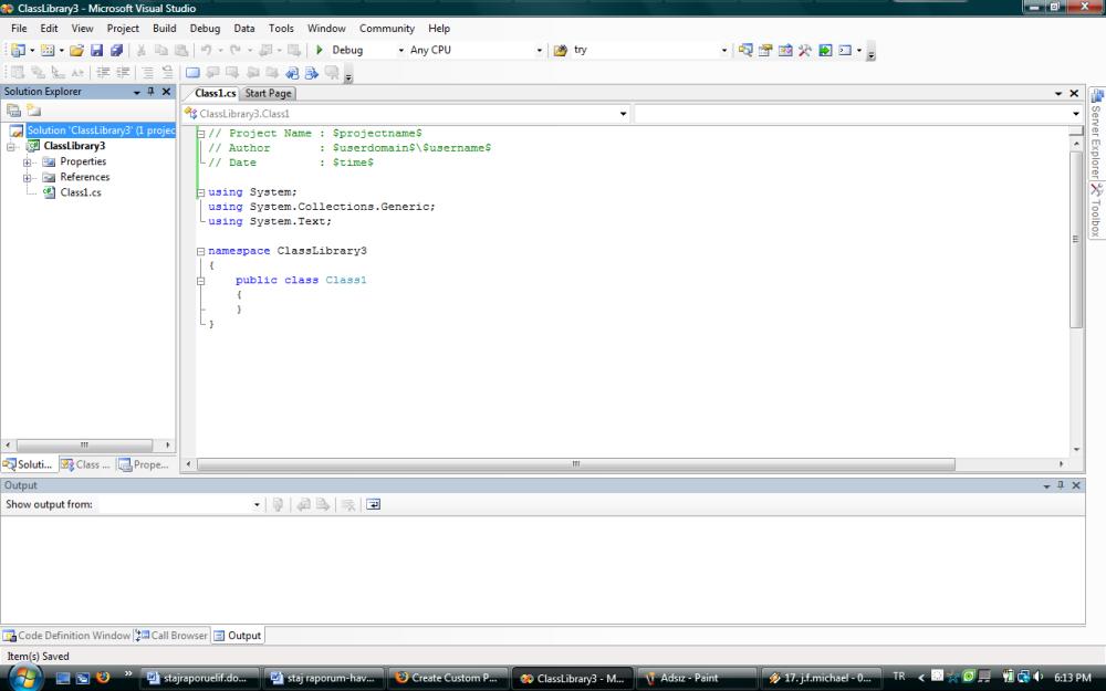 Visual Studio İçin Template Hazırlama (C#) (4/6)