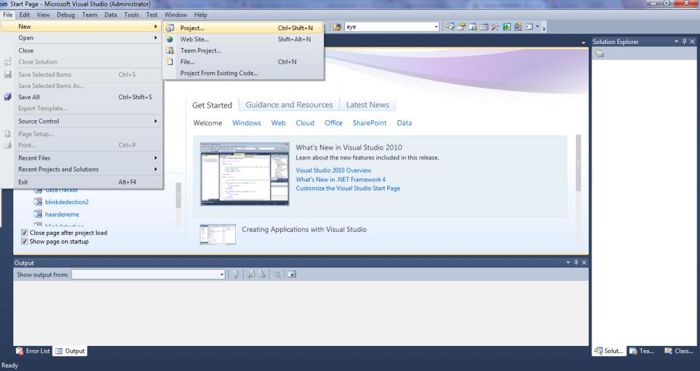 Windows 7'de Visual Studio 2010'da OpenCV-2.1.0   (1/6)